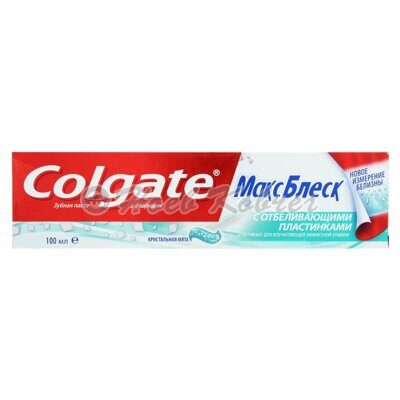 З/П Colgate Max White with white strips 100мл